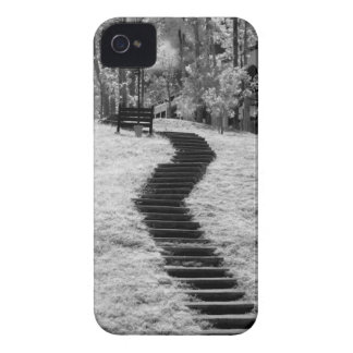 Infra red of trees buildings and trails in Las iPhone 4 Covers
