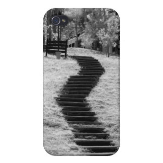 Infra red of trees buildings and trails in Las iPhone 4/4S Cover