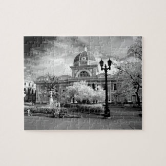 Infra Red ofParliament in Cienfuegos Cuba called Jigsaw Puzzle