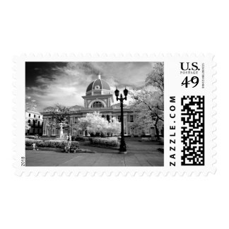 Infra Red ofParliament in Cienfuegos Cuba called Stamps