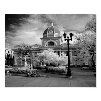 Infra Red ofParliament in Cienfuegos Cuba called Poster