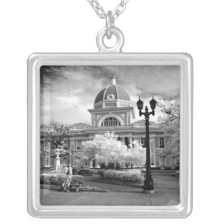 Infra Red ofParliament in Cienfuegos Cuba called Silver Plated Necklace