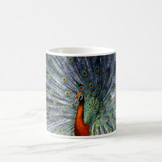 Infra Red Peacock Coffee Mug
