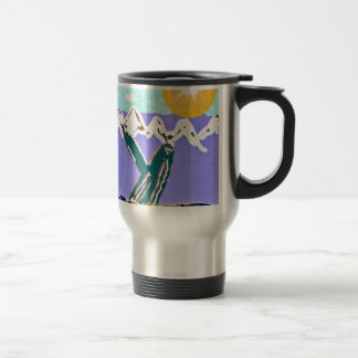 Infracción a la ballena jorobada del sol de median tazas de café