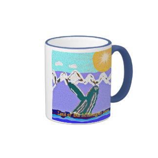 Infracción a la ballena jorobada del sol de median taza de café