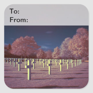 Infrared American Cemetery Crosses Gift Tags