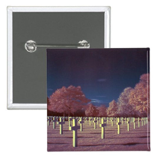 Infrared American Cemetery Crosses Pinback Button