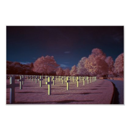 Infrared American Cemetery Crosses Posters