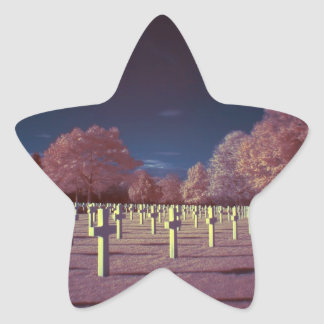Infrared American Cemetery Crosses Star Sticker