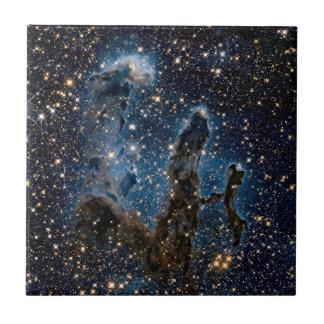 Infrared Eagle Nebula Pillars of Creation Ceramic Tile