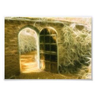 Infrared Fairy Garden Door Photo Print