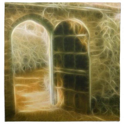 Infrared Fairy Garden Door Printed Napkins