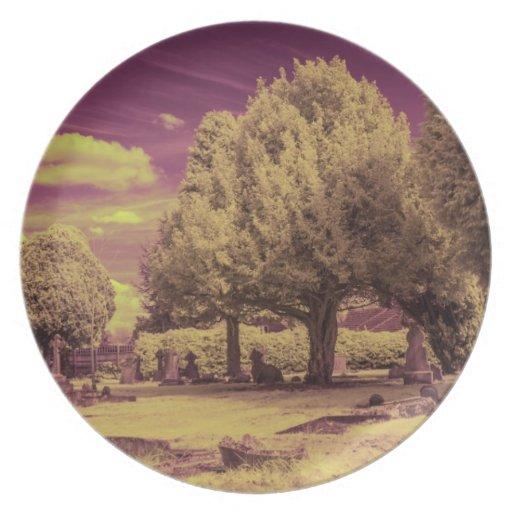 Infrared graveyard landscape plates