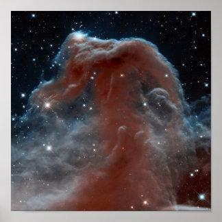Infrared Horsehead Nebula Poster