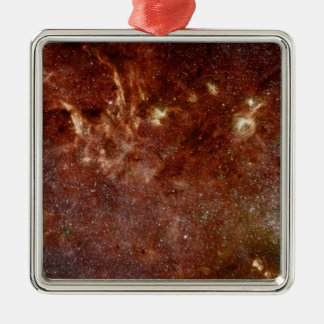 Infrared image metal ornament