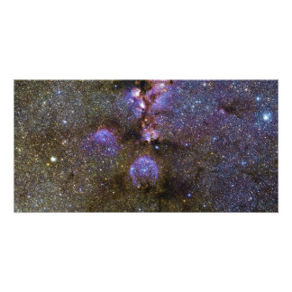 Infrared Image of the Cat s Paw Nebula NGC 6334 Photo Card Template