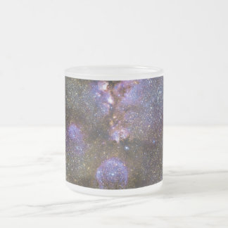 Infrared Image of the Cat's Paw Nebula NGC 6334 Frosted Glass Coffee Mug