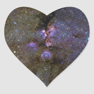 Infrared Image of the Cat's Paw Nebula NGC 6334 Heart Sticker