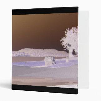 Infrared Landscape 3 Ring Binder