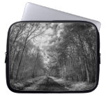 Infrared Landscape path through woods Laptop Sleeve