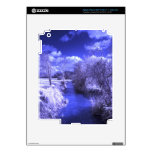 Infrared landscape with stream decals for iPad 3