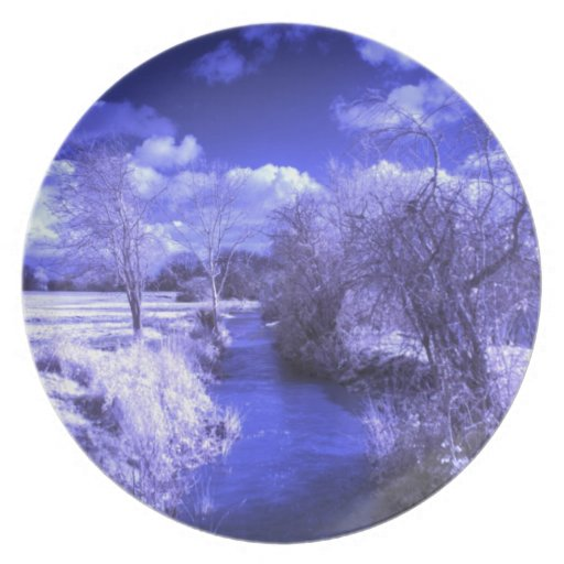 Infrared landscape with stream plate