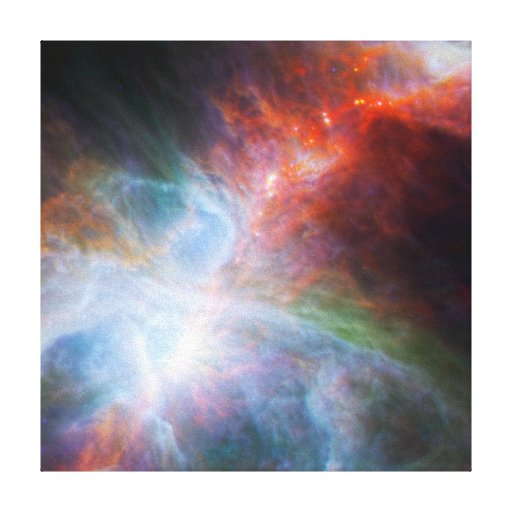 Infrared Light in the Orion Nebula Canvas Print