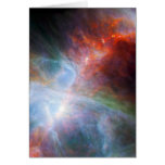 Infrared Light in the Orion Nebula Greeting Card