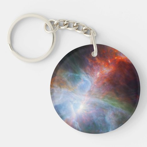 Infrared Light in the Orion Nebula Acrylic Keychain