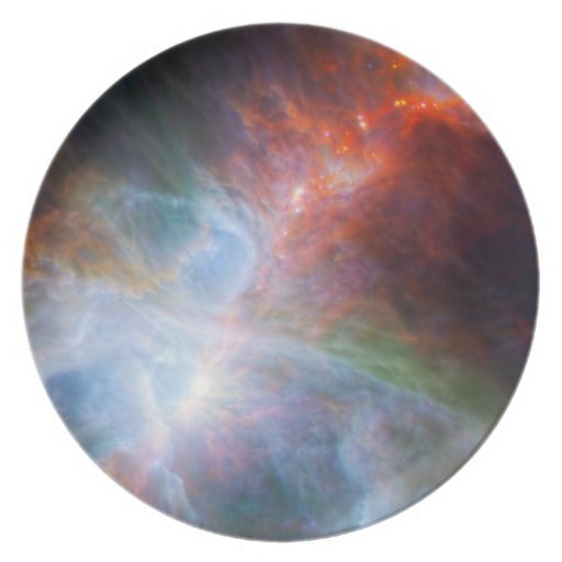 Infrared Light in the Orion Nebula Plate