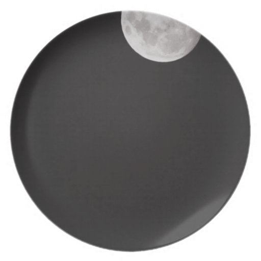 Infrared moon. party plates