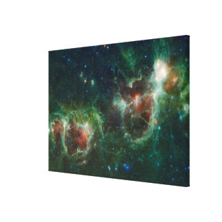 Infrared mosaic of the Heart and Soul nebulae Canvas Print