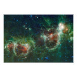 Infrared mosaic of the Heart and Soul nebulae Photo Print
