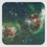 Infrared mosaic of the Heart and Soul nebulae Square Sticker