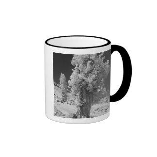 Infrared photo in East side of Yosemite National Ringer Mug