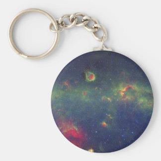 Infrared Portrait of the Inner Milky Way Galaxy Basic Round Button Keychain