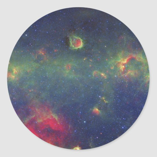 Infrared Portrait of the Inner Milky Way Galaxy Classic Round Sticker