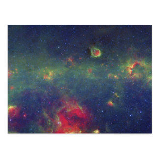 Infrared Portrait of the Inner Milky Way Galaxy Postcard