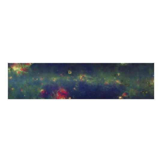 Infrared Portrait of the Inner Milky Way Galaxy Poster