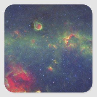 Infrared Portrait of the Inner Milky Way Galaxy Square Sticker