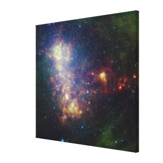 Infrared portrait revealing the stars and dust canvas print
