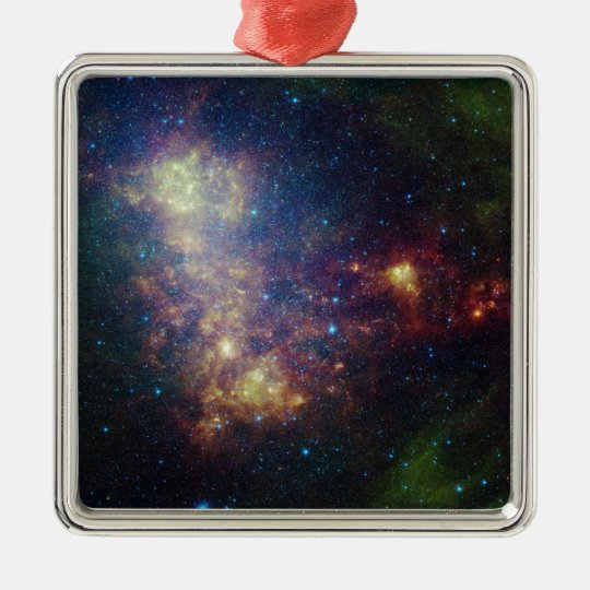 Infrared portrait revealing the stars and dust metal ornament