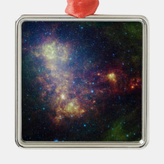 Infrared portrait revealing the stars and dust square metal christmas ornament