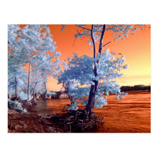 Infrared riverscape postcard
