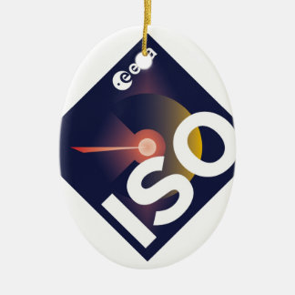 Infrared Space Observatory (ISO) Ceramic Ornament