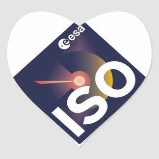 Infrared Space Observatory (ISO) Heart Sticker