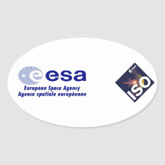 Infrared Space Observatory (ISO) Oval Sticker
