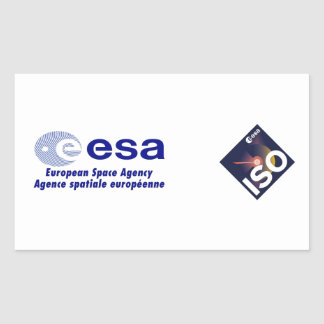 Infrared Space Observatory (ISO) Rectangular Sticker
