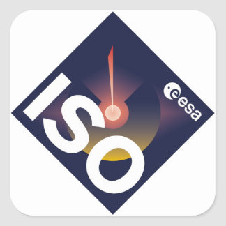 Infrared Space Observatory (ISO) Square Sticker