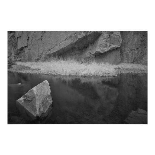 Infrared stream reflection poster